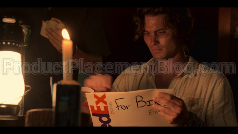 FedEx Express Package Held by Chase Stokes as John B in Outer Banks S01E03