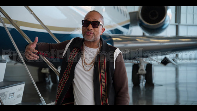 Fendi Tracksuit (Jacket and Pants Outfit) Worn by Kenya Barris in #blackAF S01E07 (2)