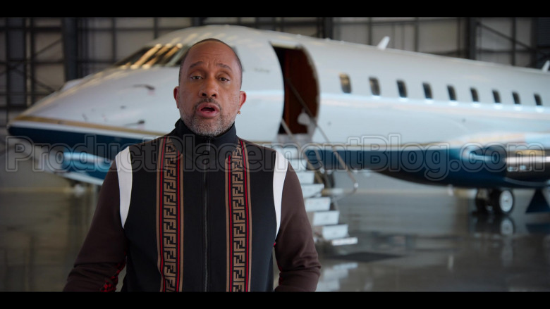 Fendi Tracksuit (Jacket and Pants Outfit) Worn by Kenya Barris in #blackAF S01E07 (5)