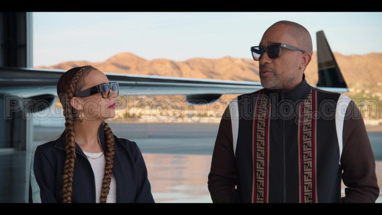 Fendi Tracksuit (Jacket and Pants Outfit) Worn by Kenya Barris in #blackAF S01E07 (6)