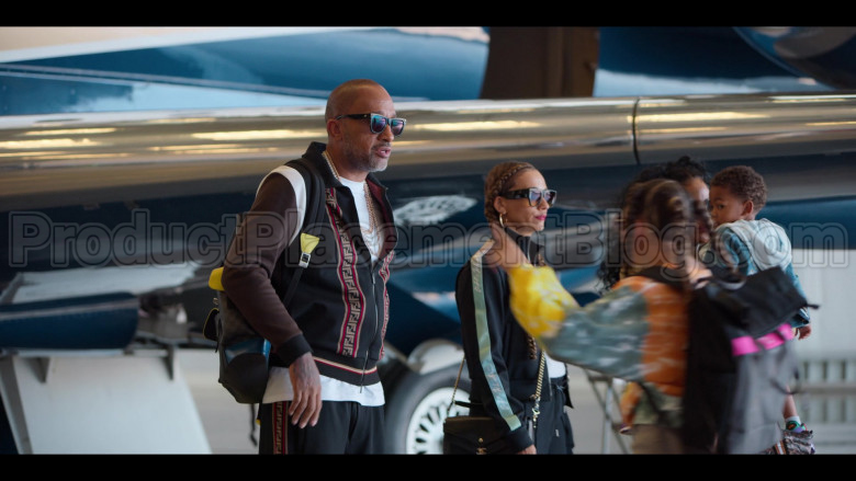 Fendi Tracksuit (Jacket and Pants Outfit) Worn by Kenya Barris in #blackAF S01E07 (7)
