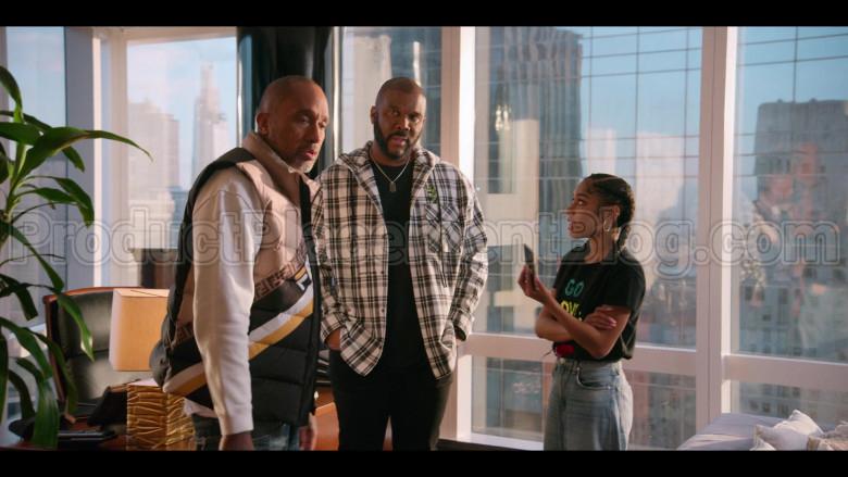 Fendi Vest of Kenya Barris in #blackAF S01E05 (1)