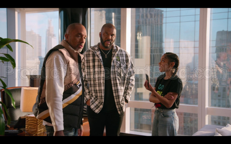 Fendi Vest of Kenya Barris in #blackAF S01E05 (1)