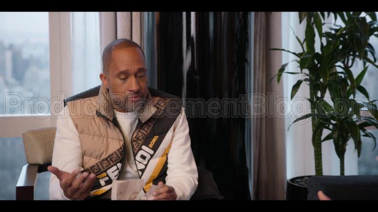 Fendi Vest of Kenya Barris in #blackAF S01E05 (3)
