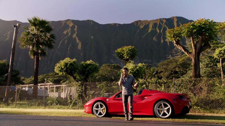 Ferrari Red Convertible Sports Car in Magnum P.I. S02E15 (2)