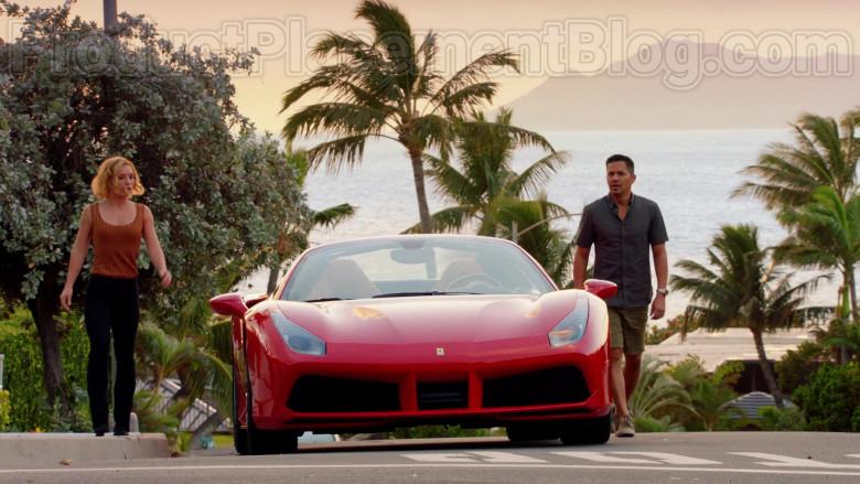 Ferrari Red Convertible Sports Car in Magnum P.I. S02E17 TV Series (11)