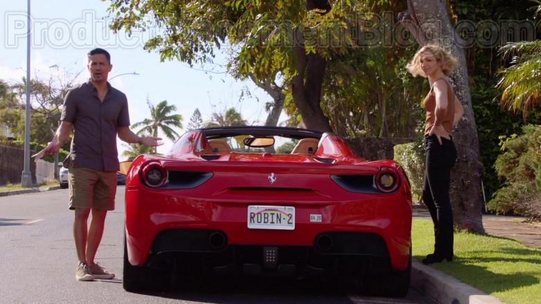 Ferrari Red Convertible Sports Car in Magnum P.I. S02E17 TV Series (5)