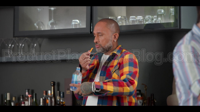 Fiji Water Bottle Held by Kenya Barris in #blackAF S01E04