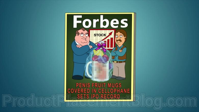 Forbes Magazine in Family Guy S18E16 Start Me Up (2020)