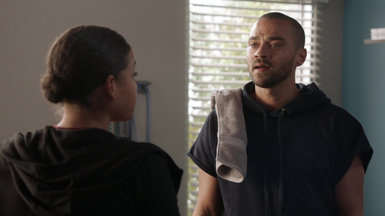 G-Star Raw Men's Short-Sleeve Hoodie of Jesse Williams as Dr. Jackson Avery in Station 19 S03E12 (1)