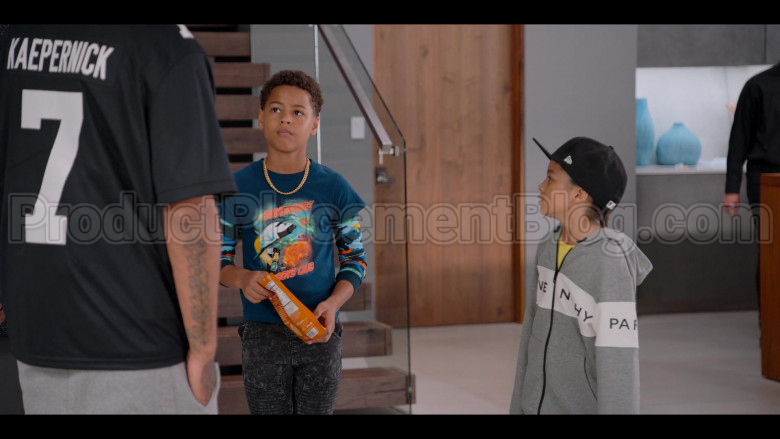 Givenchy Boys Hoodie and New Era Black Cap in #blackAF S01E03 (2)