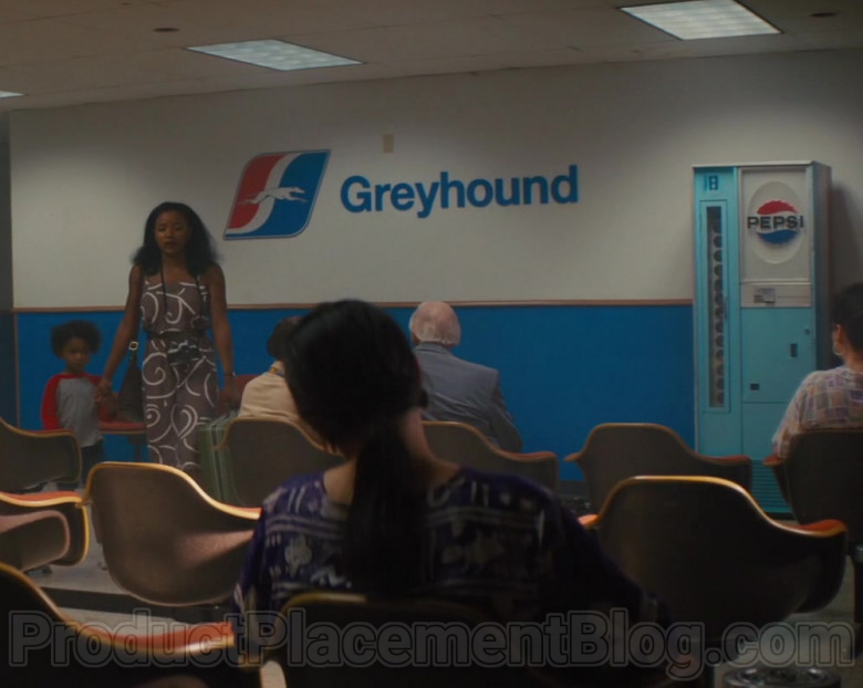 Greyhound Sign and Pepsi Vending Machine in The Photograph Movie