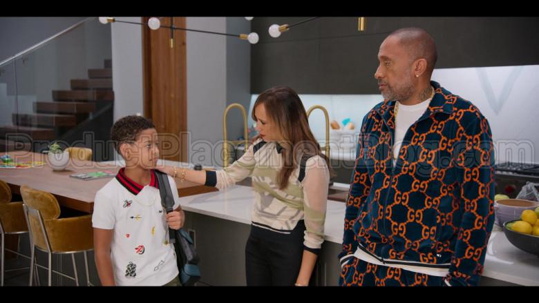 Gucci Boys Polo Shirt Worn by Justin Claiborne as Pops Barris in #blackAF S01E01
