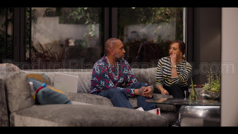 Gucci GG Ghost Print Sweatshirt of Kenya Barris in #blackAF S01E04 (2)