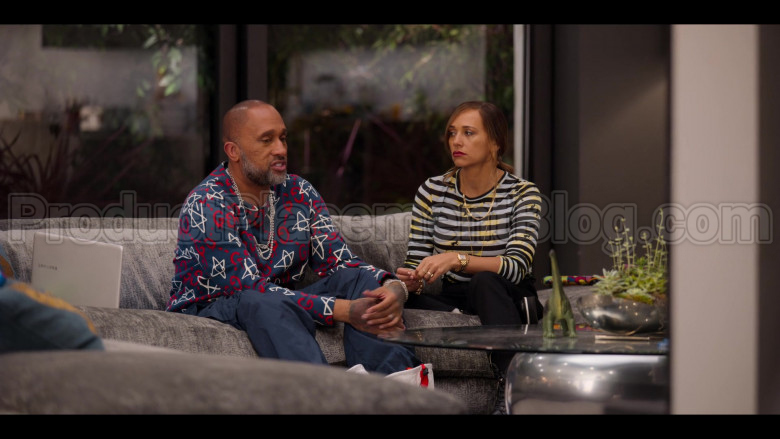 Gucci GG Ghost Print Sweatshirt of Kenya Barris in #blackAF S01E04 (3)