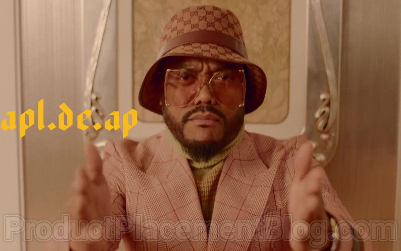 Gucci GG Logo Canvas Fedora Hat of apl.de.ap in Mamacita by Black Eyed Peas, Ozuna, J. Rey Soul (1)