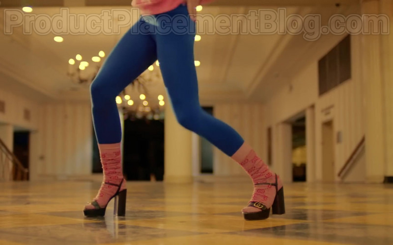 Gucci GG Logo Pink Socks For Women in Mamacita by Black Eyed Peas, Ozuna, J. Rey Soul (1)