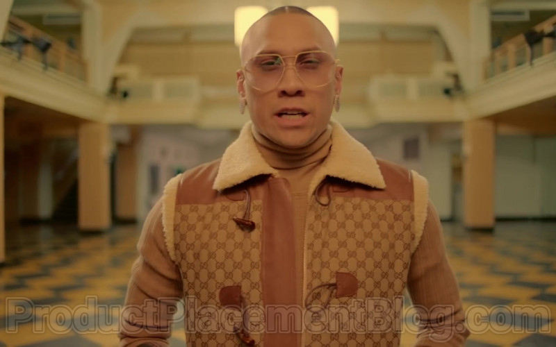 Gucci Men's Sleeveless Jacket of Taboo (Jaime Luis Gomez) in Mamacita by Black Eyed Peas, Ozuna, J. Rey Soul (2)