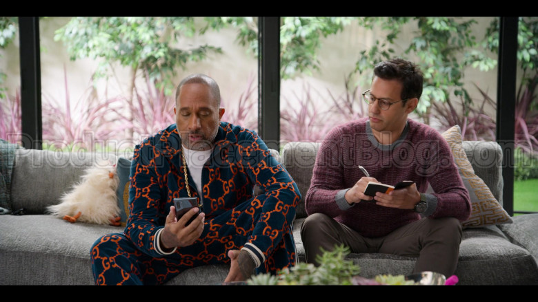 Gucci Tracksuit of Kenya Barris in #blackAF S01E01 (1)