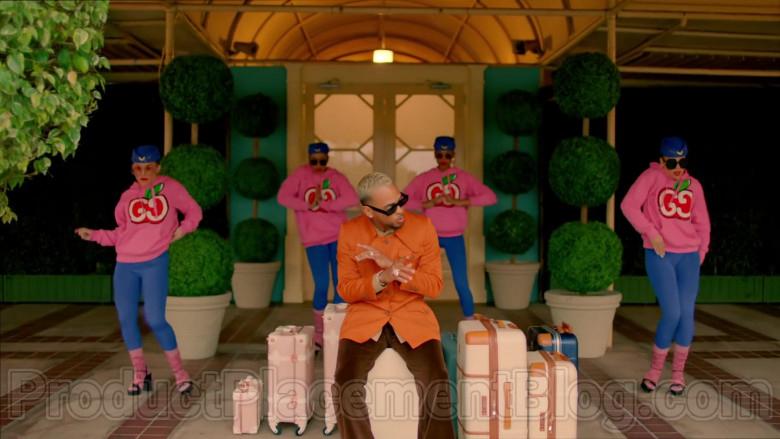 Gucci Women's Pink Hooded Sweatshirts With GG Apple Print in Mamacita by The Black Eyed Peas, Ozuna, J. Rey Soul (4)