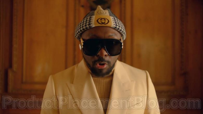 Gucci Wool Beanie Hat With Interlocking G Stripe of will.i.am in Mamacita by The Black Eyed Peas, Ozuna, J. Rey Soul (2020