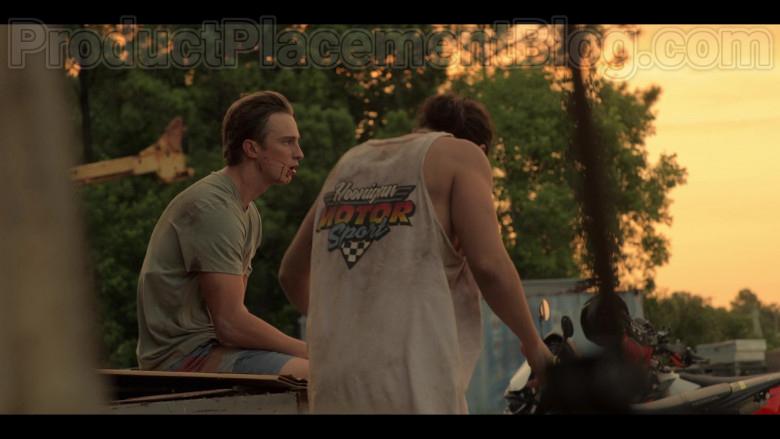 Hoonigan Motorsport T-Shirt in Outer Banks Netflix TV Show (1)