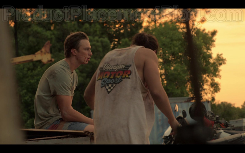 Hoonigan Motorsport T-Shirt in Outer Banks Netflix TV Show (1)