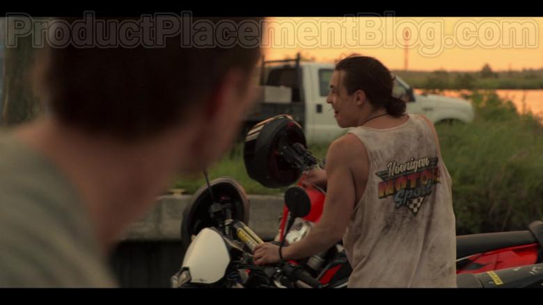 Hoonigan Motorsport T-Shirt in Outer Banks Netflix TV Show (2)