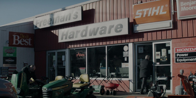 Interstate Batteries, John Deere, Stihl, Benjamin Moore and Honda Signs in Defending Jacob S01E02