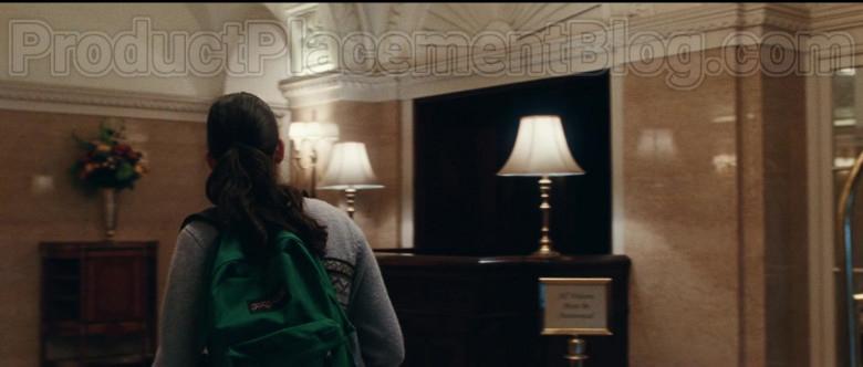 JanSport Backpack of Geraldine Viswanathan as Rachel Bhargava in Bad Education (3)