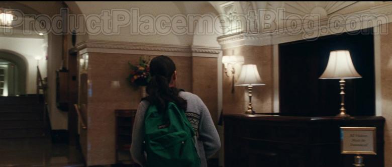 JanSport Backpack of Geraldine Viswanathan as Rachel Bhargava in Bad Education (4)