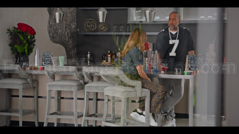 Jordan White Shoes of Kenya Barris in #blackAF S01E03