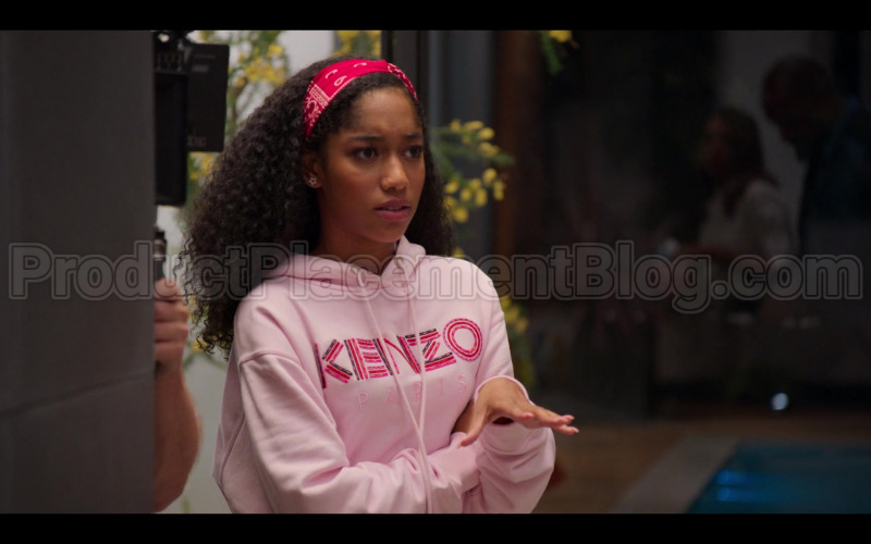 Kenzo Pink Hoodie of Iman Benson as Drea Barris in #blackAF S01E04