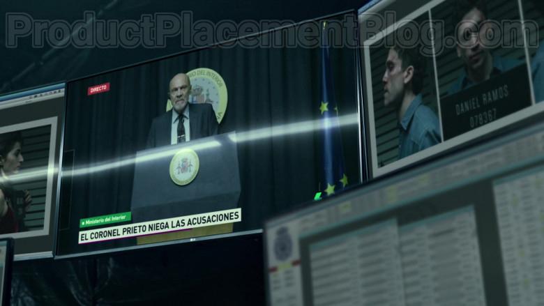 LG TV in Money Heist S04E07 Strike the Tent (2020)