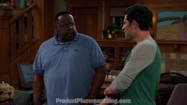 Lacoste Blue Polo Shirt of Cedric the Entertainer as Calvin Butler in The Neighborhood S02E20 (2)