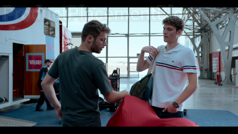 Lacoste Men's White Polo Shirt in Summertime S01E05 Without You (1)
