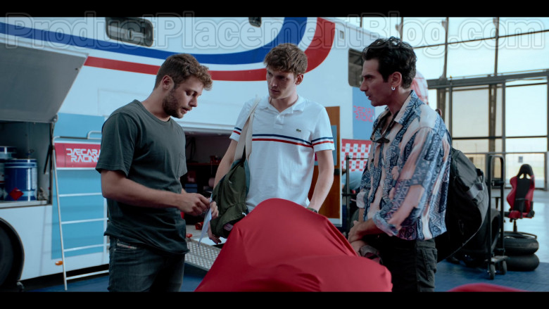 Lacoste Men's White Polo Shirt in Summertime S01E05 Without You (2)