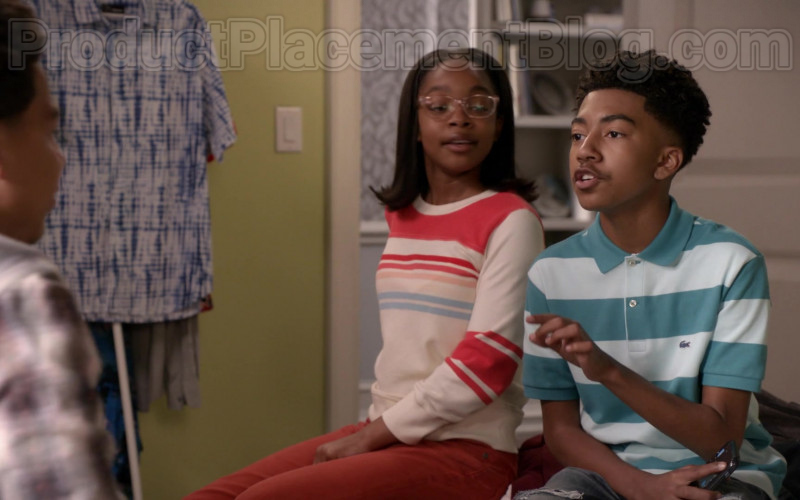 Lacoste Polo Shirt of Miles Brown in Black-ish S06E22 …Baby One More Time (2020)