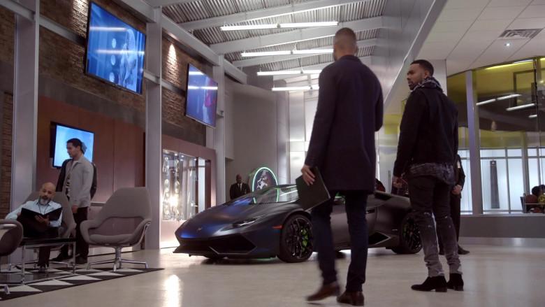 Lamborghini Huracan Grey Convertible Sports Car in Empire S06E15 – 2020 (1)