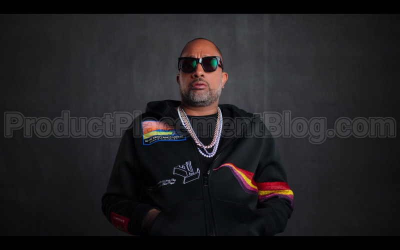 Louis Vuitton No One Knows What's Going To Happen Next Patch Black Hoodie of Kenya Barris in #blackAF (1)