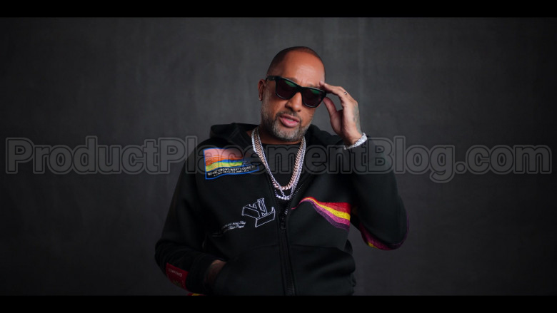Louis Vuitton No One Knows What's Going To Happen Next Patch Black Hoodie of Kenya Barris in #blackAF (2)