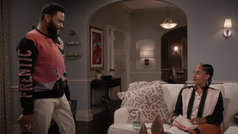 McQ Alexander McQueen Frentic Intarsia Cotton-Blend Jumper of Anthony Anderson in Black-ish S06E20 (4)