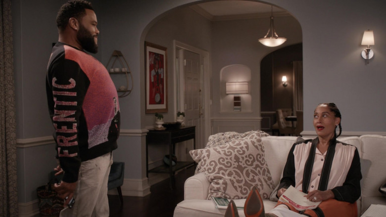 McQ Alexander McQueen Frentic Intarsia Cotton-Blend Jumper of Anthony Anderson in Black-ish S06E20 (5)