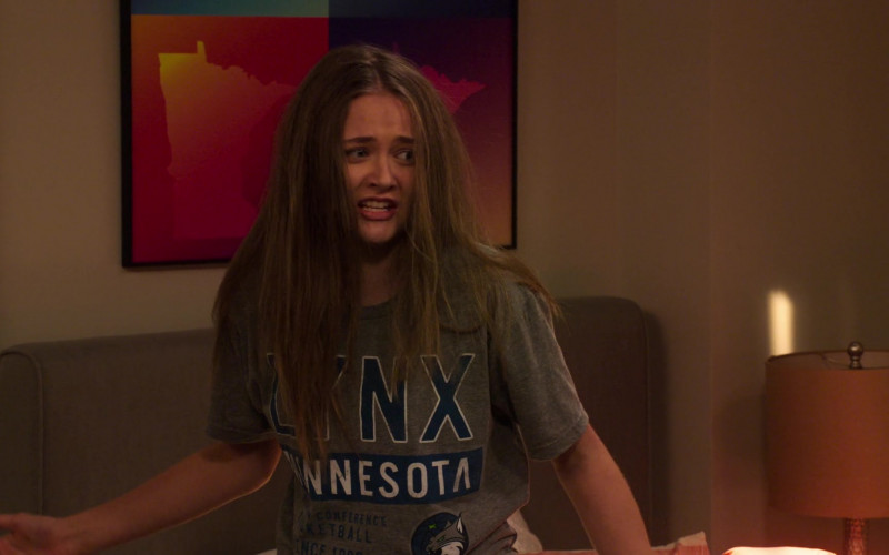Minnesota Lynx Basketball Team T-Shirt of Reylynn Caster as Lola in The Big Show Show S01E02 (1)