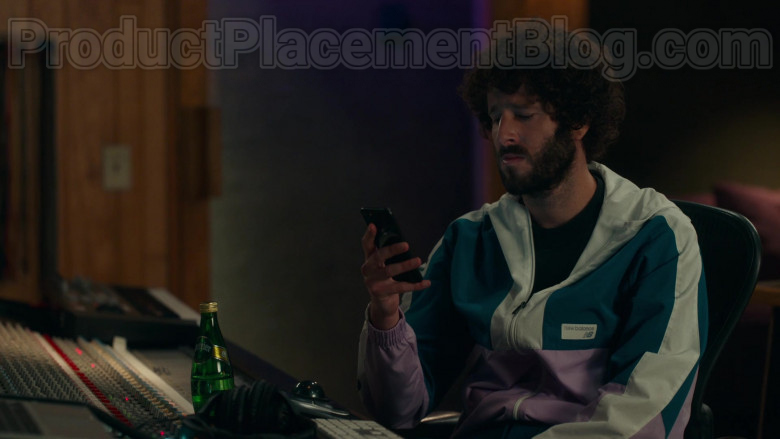 New Balance Jacket of Lil Dicky and Perrier Water Bottle in Dave S01E10