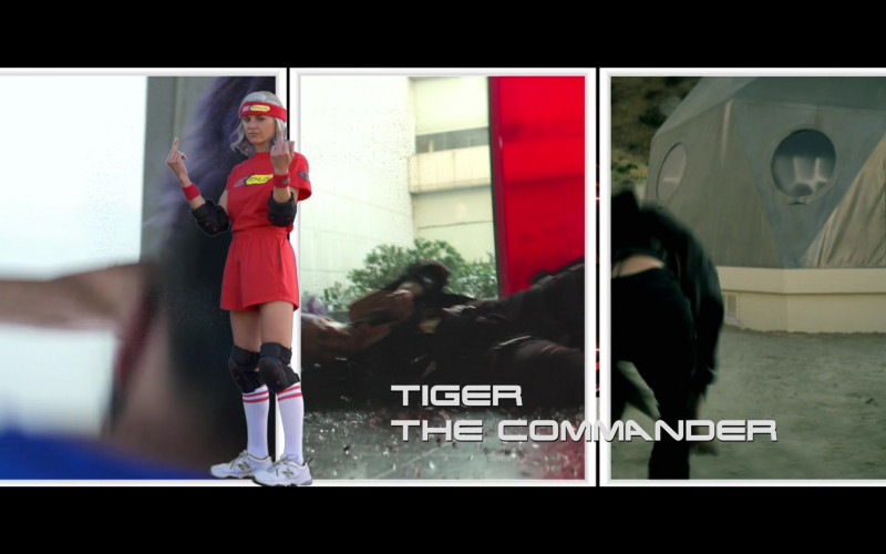 New Balance White Sneakers Worn by Eliza Coupe as Tiger in Future Man S03E01 (1)