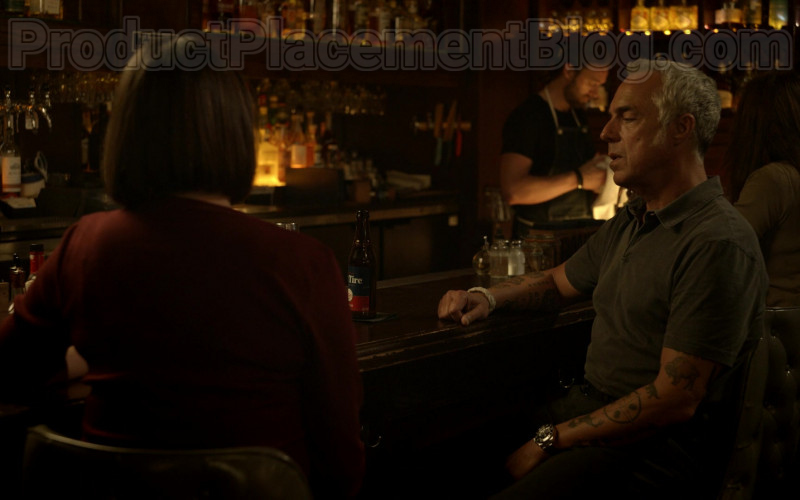 New Belgium Brewing Fat Tire Amber Ale Enjoyed by Titus Welliver in Bosch S06E06