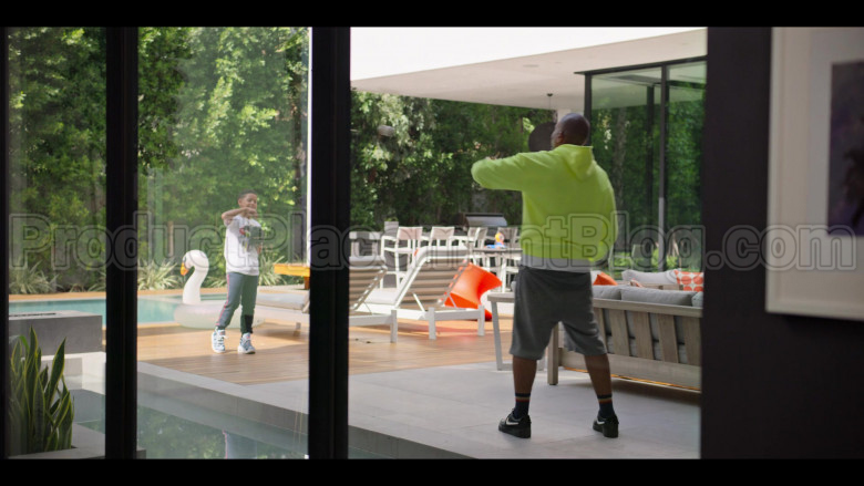 Nike Black Shoes (White Logo) of Kenya Barris in #blackAF S01E04
