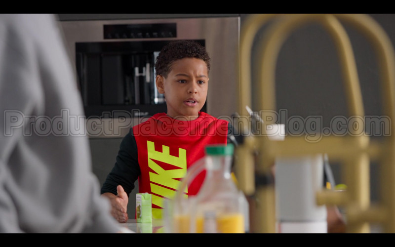 Nike Boys Red Hoodie in #blackAF S01E02 (1)