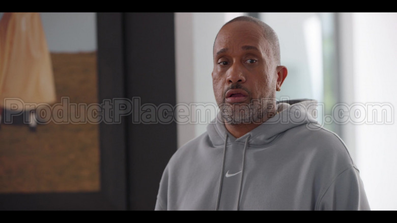 Nike Grey Hoodie of Kenya Barris in #blackAF S01E02 (3)